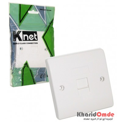Face Plate 1 port 86*86mm Knet مدل K-N-1101
