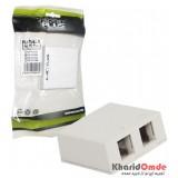 پریز روکار 2 پورت شبکه Cat5e Knet Plus مدل KP-N1086