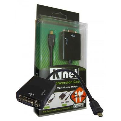تبدیل Micro HDMI به VGA+Sound برند Knet