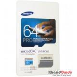 رم موبایل Samsung مدل 64GB MicroSDHC U1 90MB/S خشاب دار