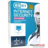 آنتی ویروس ESET INTERNET SECURITY 2019 یک ساله 4 کاربره پک بزرگ