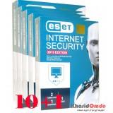 بسته 10+1 آنتی ویروس 2019 ESET INTERNET SECURITY یک ساله 4 کاربره پک بزرگ