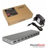 اسپلیتر 8 پورت اسلیم V-net HDMI 4K 3D 2K 1.4