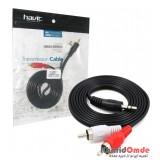 کابل 1 به 2 صدا طول 1.5 متر Havit