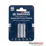 باتری نیم قلمی آلکالاین Daewoo کارتی مدل LR03