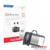 فلش SanDisk مدل 32GB Dual Drive m3.0