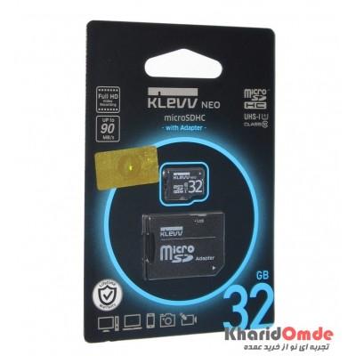 رم موبایل KLEVV مدل 32GB MicroSDHC U1 90MB/S خشاب دار