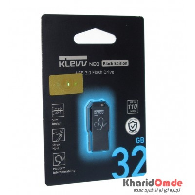 فلش KLEVV مدل 32GB Usb3.0 Black Edition