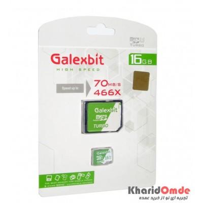 رم موبایل GalexBit مدل 16GB MicroSD 70Mb/S Turbo 466X خشاب دار