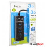 هاب 4 پورت Royal USB3.0 مدل 303