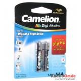 باتری نیم قلمی camelion مدل Digi Alkaline (کارتی 2 تایی)