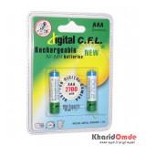 باتری نیم قلمی شارژی CFL مدل 2700mAh (2تایی)