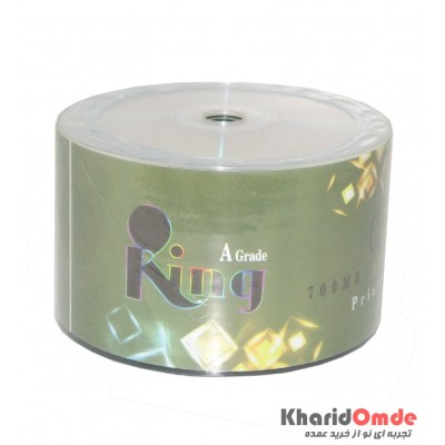CD خام پرینتیبل KING شرینگ 50 تایی