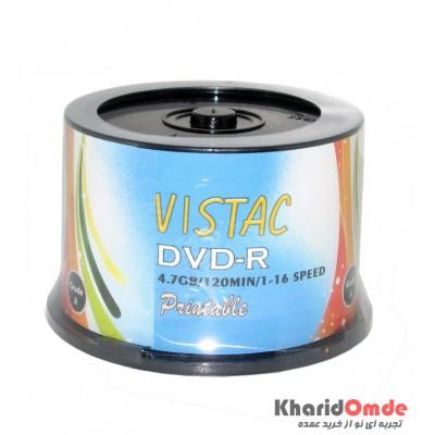 DVD خام پرینتیبل Vistac باکس 50 تایی