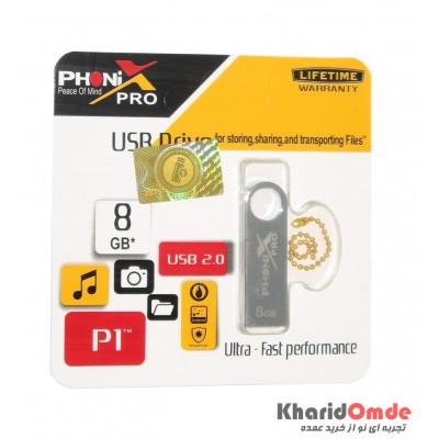 فلش PHONIX PRO مدل 8GB P1 نقره ای