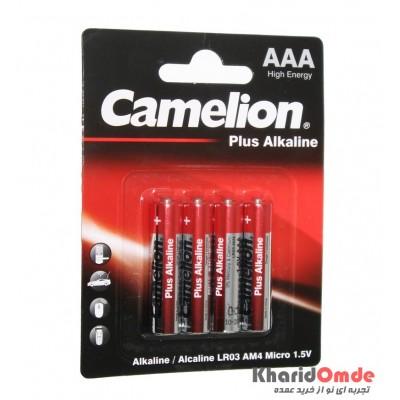 باتری نیم قلمی Camelion مدل Plus Alkaline (کارتی 4 تایی)