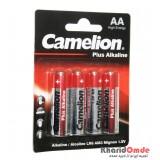 باتری قلمی Camelion مدل Plus Alkaline (کارتی 4 تایی)
