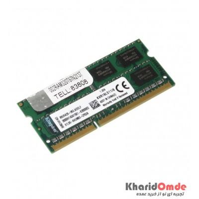 رم لپ تاپ KingSton مدل 8GB DDR3 1600