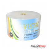 CD خام رنگی پرینتیبل Vistac شرینگ 50 تایی