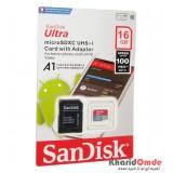 رم موبایل SanDisk مدل 16GB U1 100MB/S 677X A1 خشاب دار