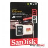 رم موبایل SanDisk مدل 64GB U3 100MB/S 677X EXTREME خشاب دار