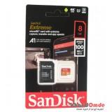 رم موبایل SanDisk مدل 8GB U3 100MB/S 677X EXTREME خشاب دار