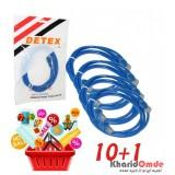 بسته 1+10 کابل شبکه Cat5 پچ کرد 1.5 متری Detex
