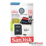 رم موبایل SanDisk مدل 16GB U1 80MB/S 533X خشاب دار