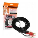 کابل 1 به 2 صدا طول 1.5 متر Stecker