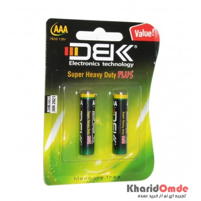 باتری نیم قلمی DBK مدل Super Heavy Duty Plus (کارتی 2 تایی)