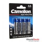 باتری قلمی Camelion مدل Super Duty Heavy (کارتی 4تایی)