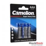 باتری نیم قلمی Camelion مدل Super Duty Heavy (کارتی 4تایی)