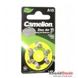 باتری سمعک Camelion مدل A10 (کارتی 6تایی)