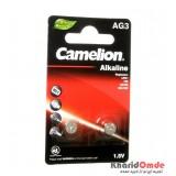 باتری سکه ای Camelion مدل Alkaline AG3 (کارتی 2 تایی)