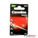 باتری سکه ای Camelion مدل Alkaline AG1 (کارتی 2 تایی)