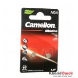 باتری سکه ای Camelion مدل Alkaline AG4 (کارتی 2 تایی)
