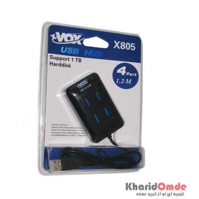 هاب 4 پورت xVOX مدل X805