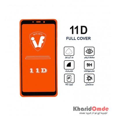 محافظ گلس صفحه نمایش 11D مناسب برای گوشی A9 2018 بدون پک