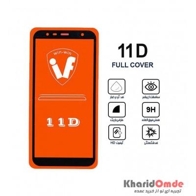 محافظ گلس صفحه نمایش 11D مناسب برای گوشی J6 Plus بدون پک