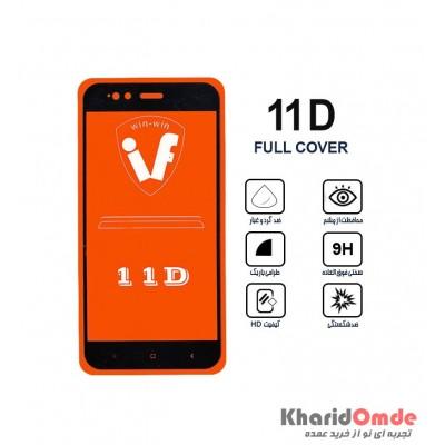 محافظ گلس صفحه نمایش 11D مناسب برای گوشی MI A1 بدون پک