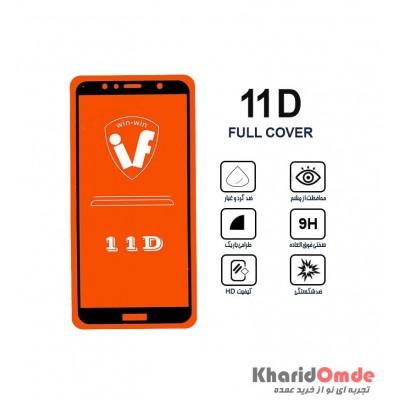 محافظ گلس صفحه نمایش 11D مناسب برای گوشی Y6prime 2018 بدون پک