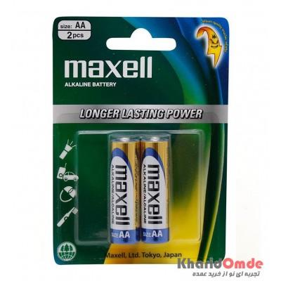 باتری Alkaline قلمی maxell مدل LR6 (GD) 2B AA/1.5V