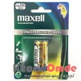 باتری Alkaline نیم قلمی maxell مدل LR03 (GD) 2B AAA/1.5V
