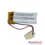 باتری آدامسی هدست و اسپیکر GD041025P 200mAh 3.7V