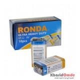 باتری کتابی Ronda 9V مدل Ultra Heavy Duty 6F22