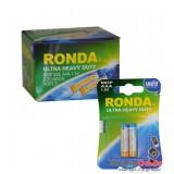 باتری نیم قلمی Ronda 1.5V مدل Ultra Heavy Duty R03P