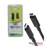 کابل 1 متری USB 3.1 TYPE C مدل Knet Plus