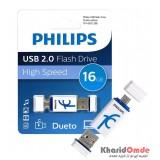 فلش PHILIPS مدل Dueto 16GB