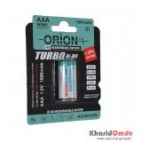 باتری نیم قلمی شارژی ORION مدل HR3 NiMH 1.2V 1000mAh