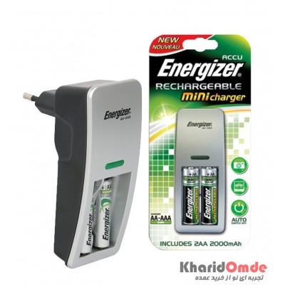 شارژر باتری Energizer مدل ACCU + باتری شارژی 2000mAh